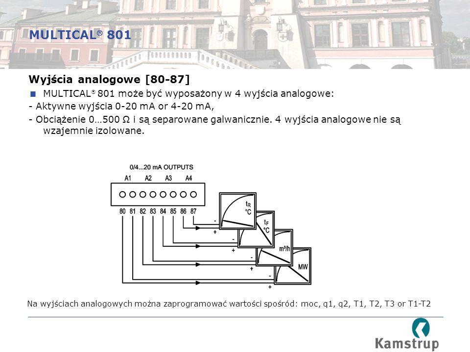 MULTICAL 801 Wyjścia analogowe [80-87]